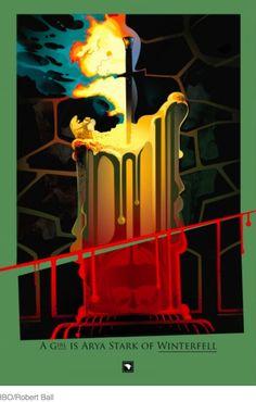 #Arya #GameofThrones #art  http://www.techinsider.io/game-of-thrones-beautiful-death-art-2016-7