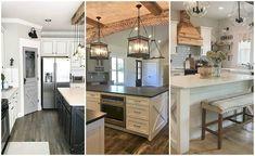 Love these gorgeous farmhouse kitchen ideas! farmhouse kitchen cabinets, farmhouse kitchens, farmhouse cabinets, farmhouse style kitchen. #farmhouse #farmhousekitchen #farmhousestyle