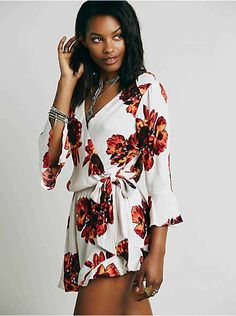 Free People All The Right Ruffles Romper, $128.00