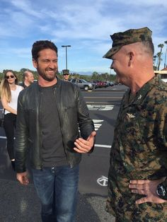 Gerard Butler in Camp Pendleton London has Fallen screening
