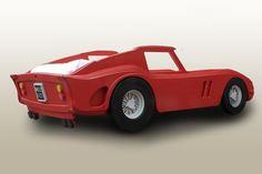 Our new Ferrari 250 GTO sports car single bed designed for this year. We love the curves and attention to detail. :-) by Fun Furniture Collection, home of children's handmade theme luxury beds, toy boxes and storage. Visit www.funfurniturecollection.co.uk