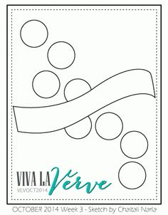 Viva la Verve October 2014 - Week 3 Sketch Sketch designed by Chaitali Narla #vivalaverve #vervestamps #cardsketches