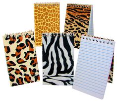 Animal Print Notebooks.  we could make our own little prayer books for the class.