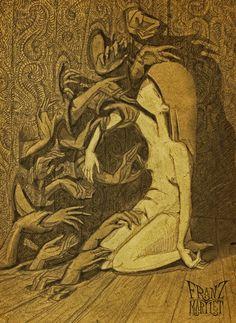#arms #body #despair #doom #dream #dying #female #girl #hopelessness #nightmare #nudity #sadness #sorrow #terror #art #drawing #franz_martlet