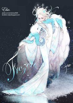 antenna's fanart of Disney Pixar Frozen Anime Disney Princess, Disney Pixar, Disney And Dreamworks, Disney Cartoons, Disney Frozen, Frozen Snow, Elsa Frozen, Frozen Art, Disney Kunst