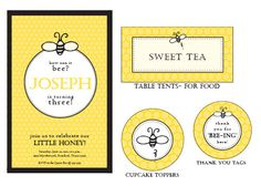 Bumble Bee Birthday Pack