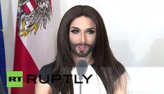 "Conchita Wurst honoured to ""bring victory home"": http://youtu.be/cdQusUj8wzU"