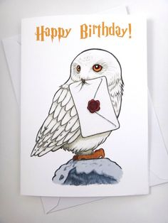 Harry Potter Card Hedwig Card Birthday Card Funny Card Greeting Card Harry Po Best Picture For DIY Birthday Cards with photos For Your Taste You are looking for something, and it is going to tell you Harry Potter Kunst, Harry Potter Bricolage, Harry Potter Sketch, Harry Potter Cards, Cumpleaños Harry Potter, Harry Potter Drawings, Harry Harry, Harry Potter Karten, Imprimibles Harry Potter Gratis