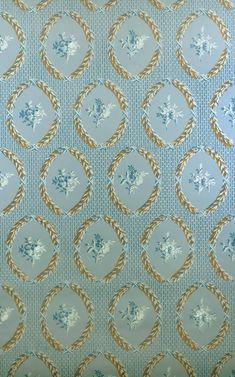 Tapetenreproduktion (wallpaper reproduction) ca.1800 für das Goethehaus Frankfurt am Main