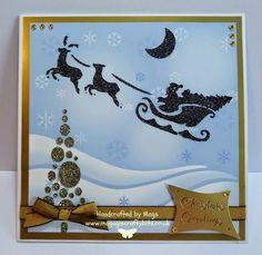 Santa and Sleigh Scene Christmas Cards, Xmas, Santa Sleigh, Card Patterns, Before Christmas, Design Crafts, I Card, Poppy, Imagination