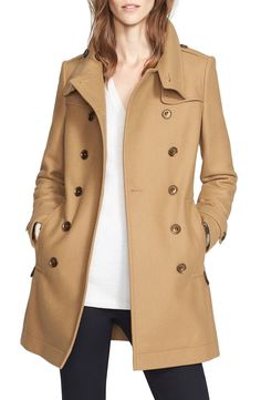 Burberry Daylesmoore Wool Blend Double Breasted Trench Coat available at #Nordstrom