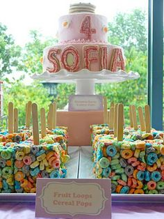 Pajama Party Ideas!  -Dessert table made like a bed  -Cereal Pops  -Pancake Cookies