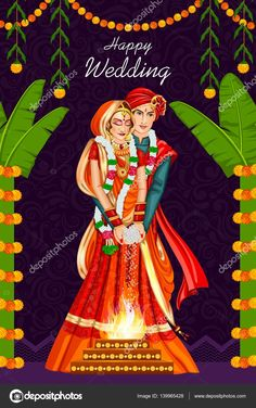 347 Indian Wedding Couple Cliparts, Stock Vector And Royalty Free Wedding Card Design Indian, Indian Wedding Couple, Indian Wedding Cards, Wedding Couples, Wedding Designs, Wedding Styles, Wedding Couple Cartoon, Indian Weddings, Indian Wedding Invitation Cards