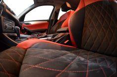 Interior tapiterie auto alcantara scaune cu romburi. http://www.tapiterieauto.biz