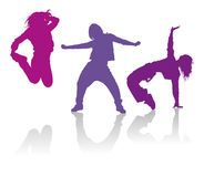 Silhouettes Of Girls Dancing Hip Hop Dance - Download From Over 45 Million High Quality Stock Photos, Images, Vectors. Sign up for FREE today. Image: 36532746