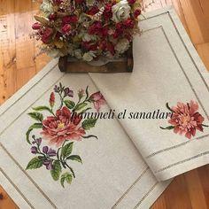 Crewel Embroidery, Bargello, Table Runners, Applique, Cross Stitch, Knitting, Crochet, Handmade, Beautiful