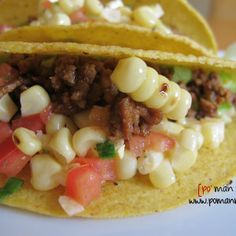 beef tacos with grilled corn salsa