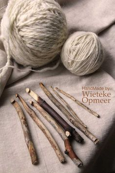"Handmade sustainable wooden crochet needles from by wietekeopmeer, €11.00 - I supposed you could call these ""Folk Art"". They definitely ARE ART!! Beautiful!"