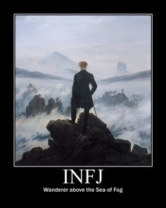 INFJ wanderer above the Sea of Fog