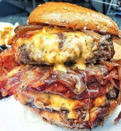 Huge BBQ Bacon Cheeseburger