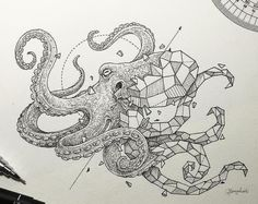 nice Tattoo Trends - Geometric octopus tattoo design • Visit artskillus.ru for more tattoo ideas...