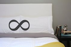 Oh, Susannah His and Hers Pillow Case Infinity Pillow Eternity Pillowcase Bed Pillow Infinity Symbol Eternity Pillowcase | The Gift Central