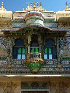 The Peacock Courtyard at the City Palace in Udaipur, Rajasthan, India • photo: Steve Hoge on Flickr