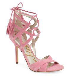 0e2715f61649 Sam Edelman  Azela  Tasseled Lace-Up Sandals