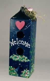 Hands On Crafts for Kids - Milk Carton Birdhouse