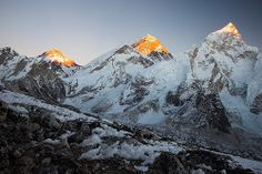Mt.Everest and Nuptse from Kalla Pathar