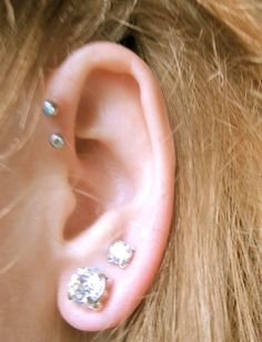 Peircings.. Already have the two holes ready to get those two on the inside