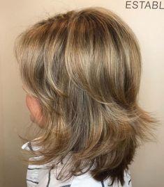Medium-Length Bronde Shag Medium Length Hairdos, Medium Length Hair With Bangs, Short Hair With Layers, Medium Hair Styles, Short Hair Styles, New Long Hairstyles, Thin Hair Haircuts, Modern Hairstyles, Down Hairstyles