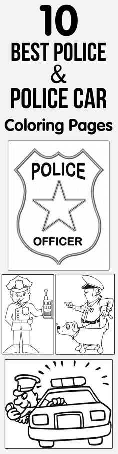 Are police and police vehicles your kids fantasy or love playing with the characters. Then why not give them these free printable police car coloring pages.