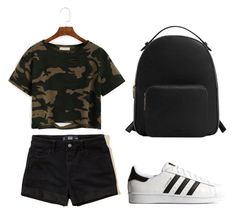 """""""Universal Outfit"""" by ilunaisabella on Polyvore featuring moda, Hollister Co., adidas Originals y MANGO"""