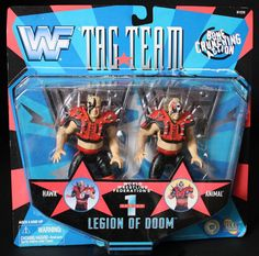 What A Rush! WWF Legion of Doom Road Warriors Action Figures www.warpzoneonline.com Wrestling Costumes, Wrestling Wwe, Wwe Toys, Wrestling Superstars, Hulk Hogan, Childhood Days, Classic Toys, Cool Toys, Old School