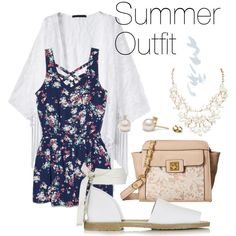 Summer Outfit by snowflake1025 on Polyvore featuring polyvore fashion style MANGO Topshop Jessica Simpson