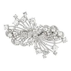 Mood Vintage swirl crystal hair barette- at Debenhams.ie