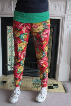 Sew South London - Sew Over It Ultimate Trousers in amazing floral print fabric!