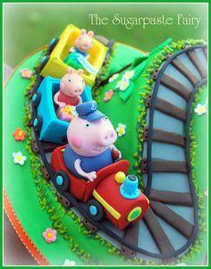 Grandpa Pig's train Cake by SugarpasteFairy