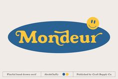 Mondeur - Playful Hand Drawn Serif designed by Fonts. the global community for designers and creative professionals. Type Design, Ad Design, Retro Design, Logo Design, Graphic Design, Illustrator Cs, Illustrator Tutorials, Retro Logos, Vintage Logos