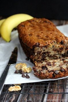 chocolate chip walnut banana bread 4
