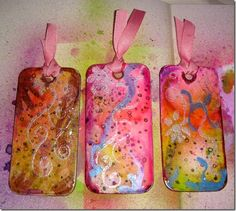 Tie Dye inspired tags