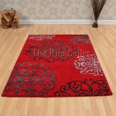 Matrix tangier rugs max45 red buy online from the rug seller uk - Wool Rugs - Matrix Rugs