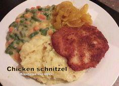 Posts about Chicken/hoender written by kreatiewekosidees Kos, Chicken Schnitzel, Turkey Dishes, Gardening Tips, Mashed Potatoes, Recipies, Veggies, Cooking, Ethnic Recipes