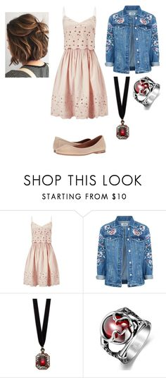 """Untitled #39"" by lucia-valle-sanchez on Polyvore featuring Miss Selfridge, Design Lab and Frye"