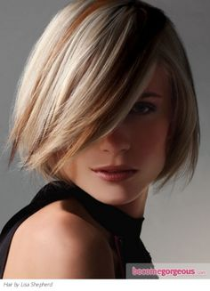 Blond with subtle auburn and golden brown highlights