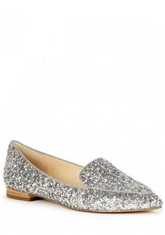 Cammila Silver Pointed Toe Smoking Slipper