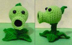 Crochet Pea shooter amigurumi Plants vs zombies, $19.90