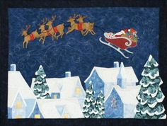Quilt Inspiration: Our Town, Part 5: Up on the Housetop by Cynthia England at England Design  I love this!