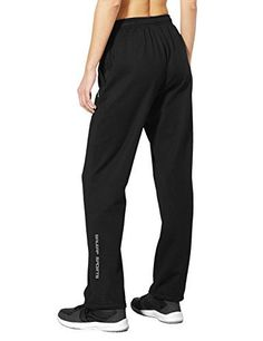 Baleaf Women's Running Thermal Fleece Pant Zip Pocket Sweatpants | New Deals USA